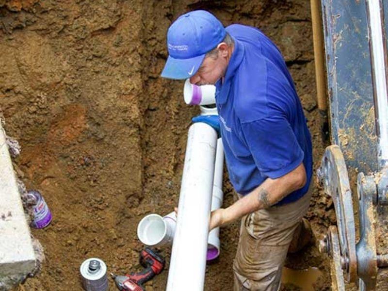 sewer line repair   bluesky plumbing